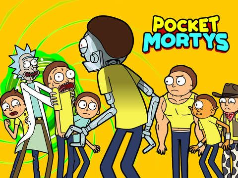 Pocket Mortys de adult swim