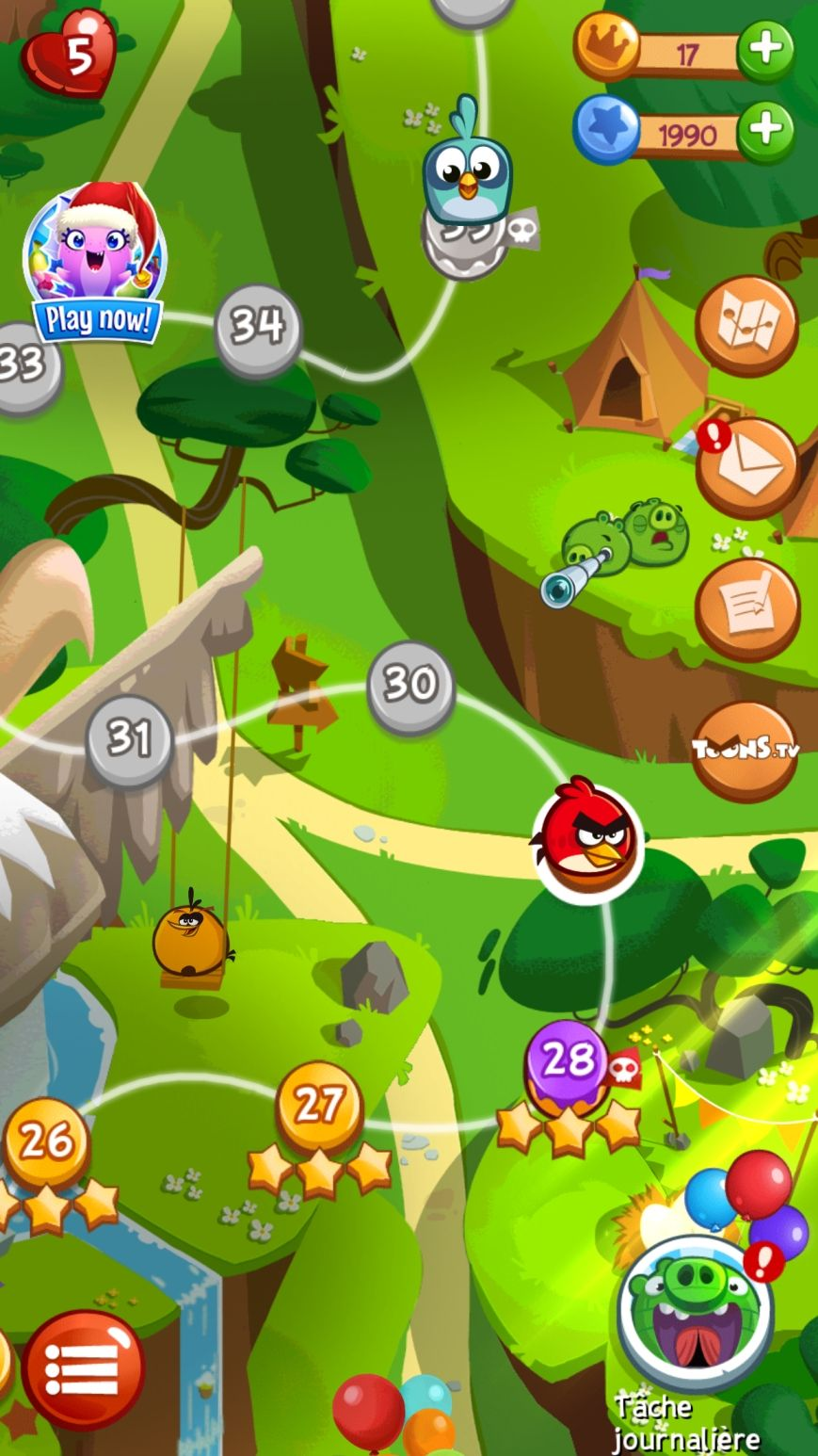 Angry Birds Blast (copie d'écran 1 sur iPhone / iPad)