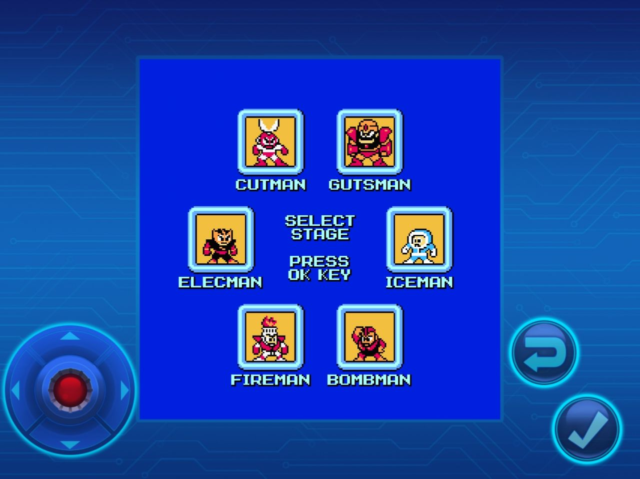 MEGA MAN MOBILE (copie d'écran 1 sur Android)