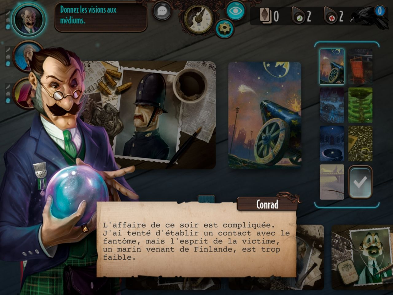 Mysterium: The Board Game (copie d'écran 1 sur Android)