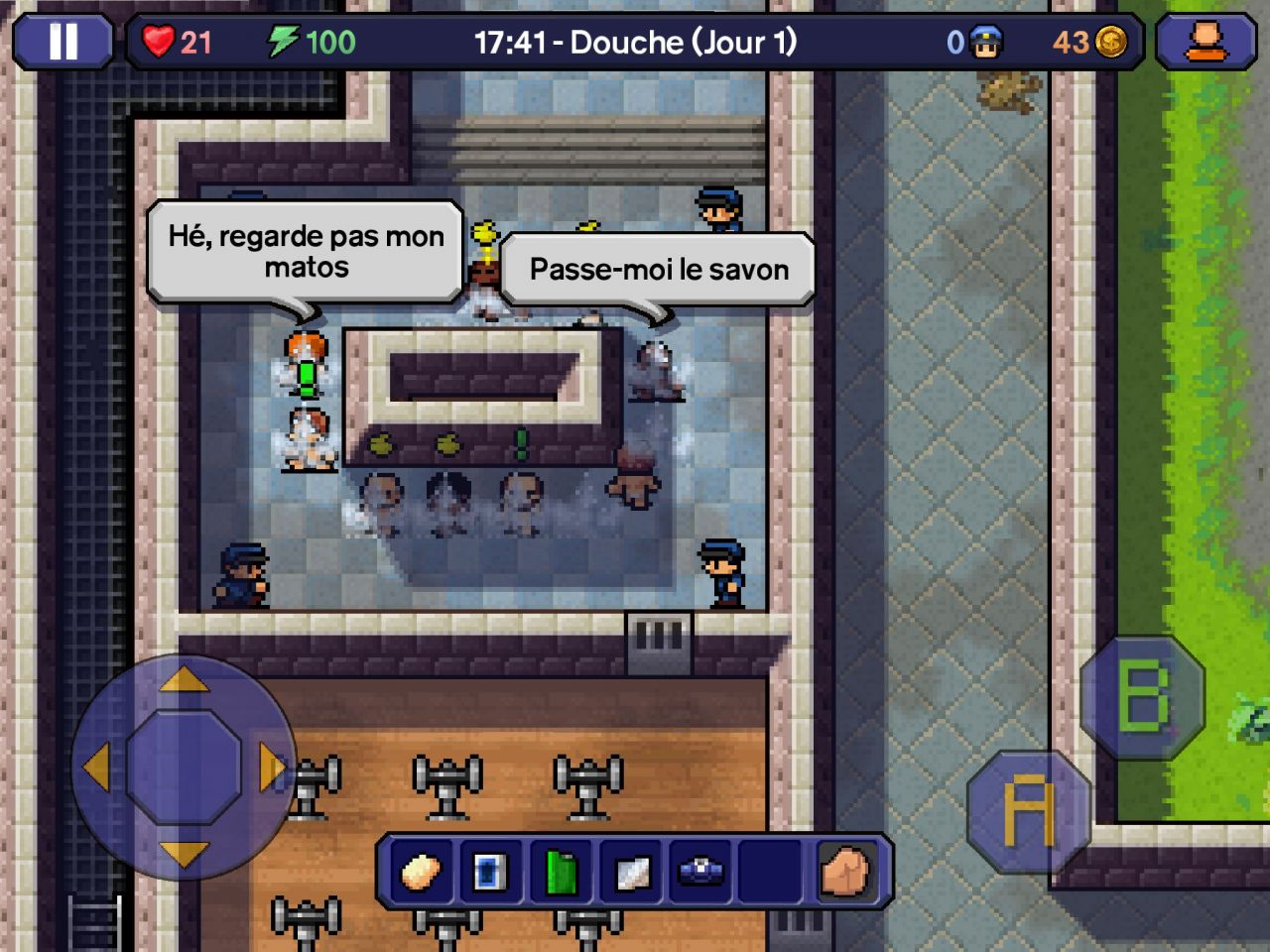 The Escapists (copie d'écran 9 sur iPhone / iPad)
