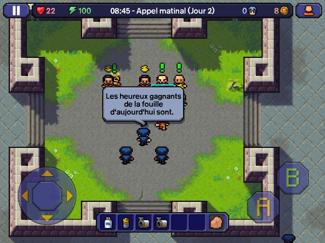 The Escapists (copie d'écran 3 sur Android)