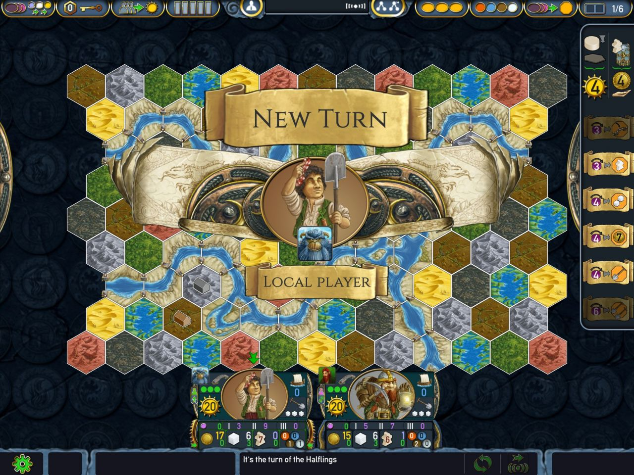 Terra Mystica (copie d'écran 7 sur iPhone / iPad)