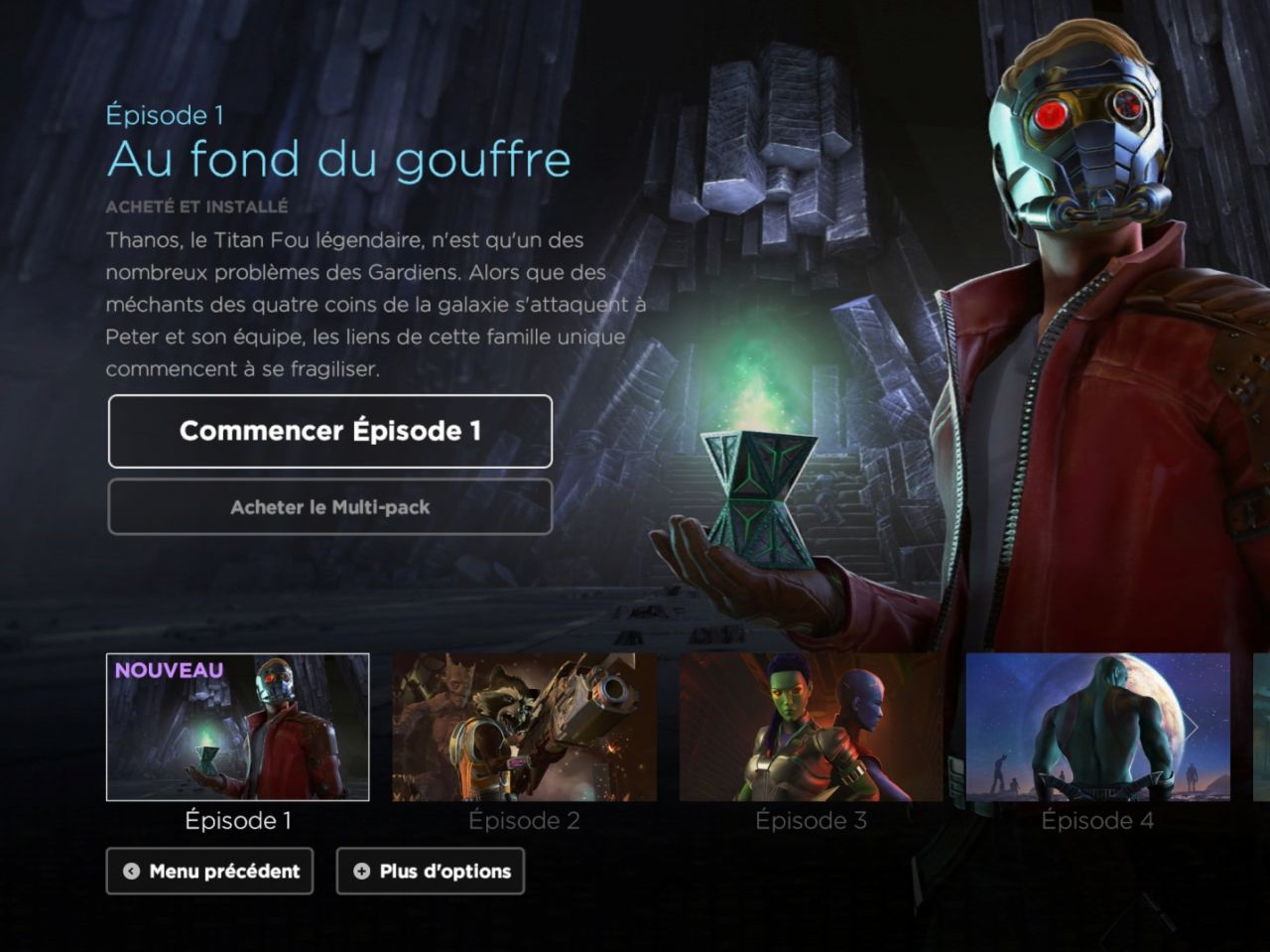 Marvel's Guardians of the Galaxy TTG (Episode 1 : Au fond du gouffre) (copie d'écran 1 sur iPhone / iPad)