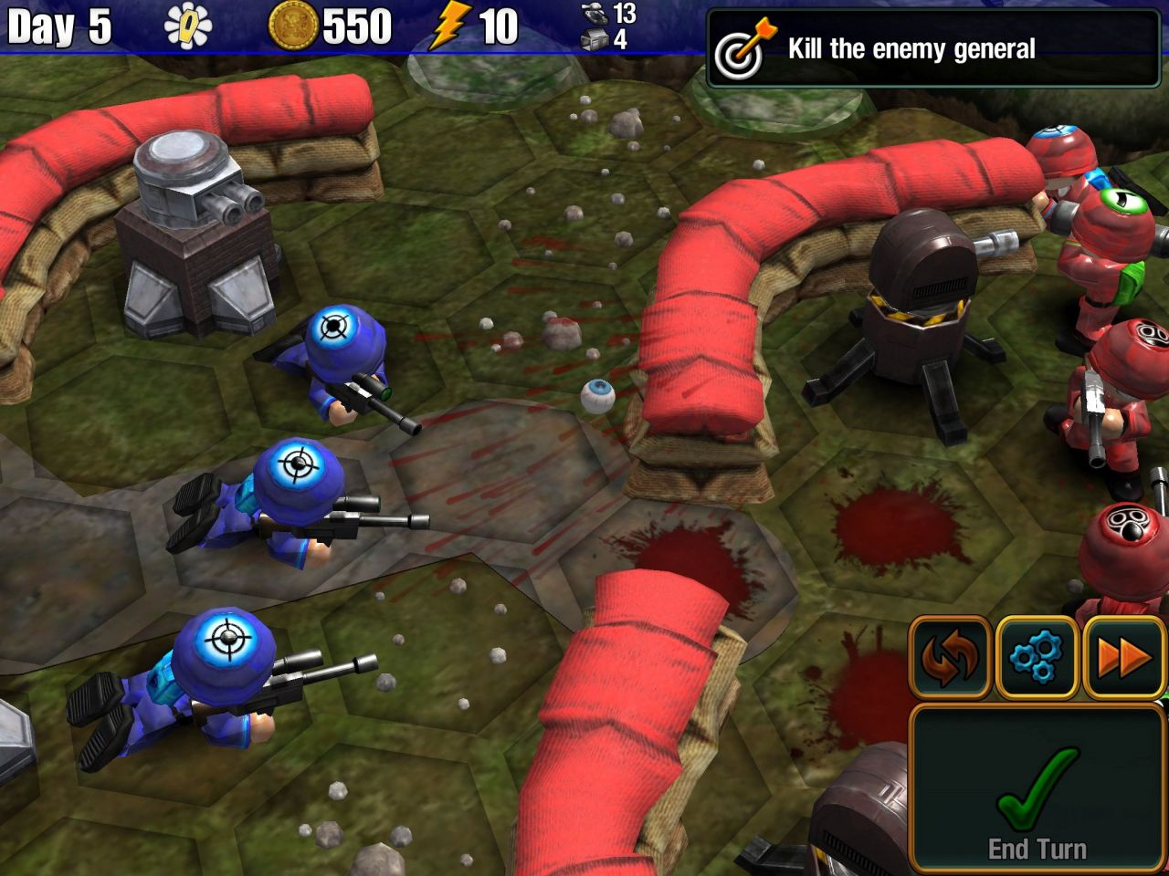 Epic Little War Game (copie d'écran 5 sur iPhone / iPad)