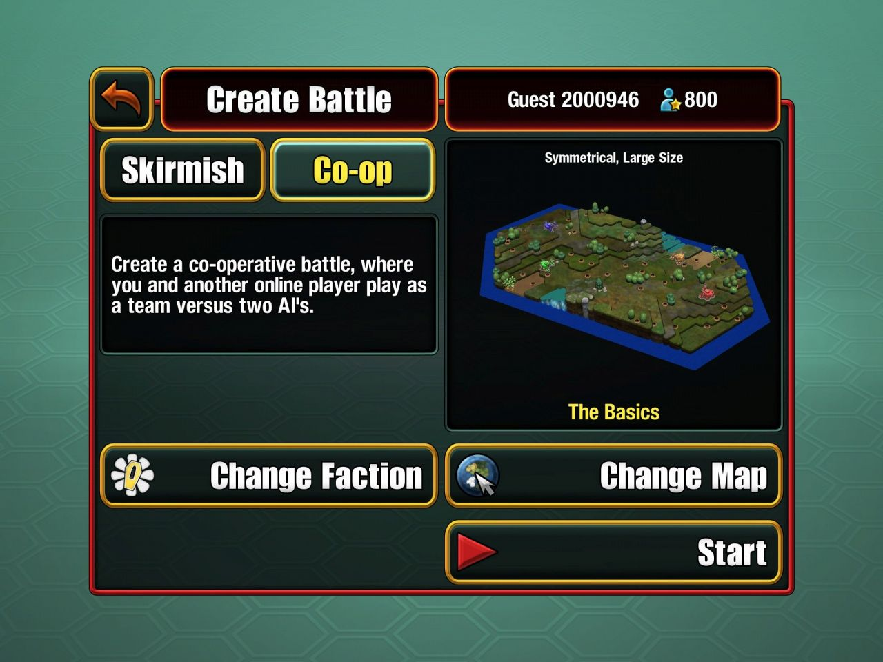 Epic Little War Game (copie d'écran 1 sur Android)