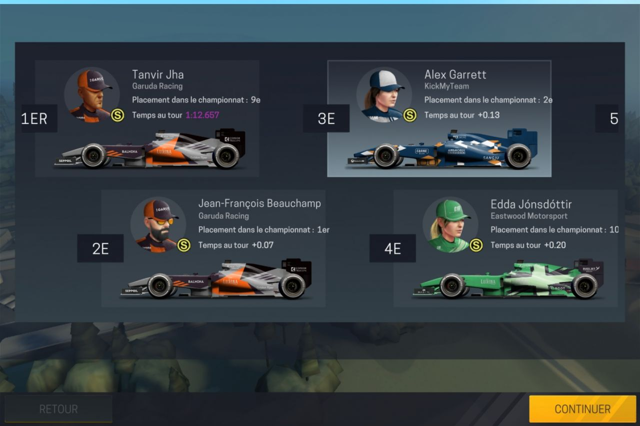 Motorsport Manager Mobile 2 (copie d'écran 19 sur Android)