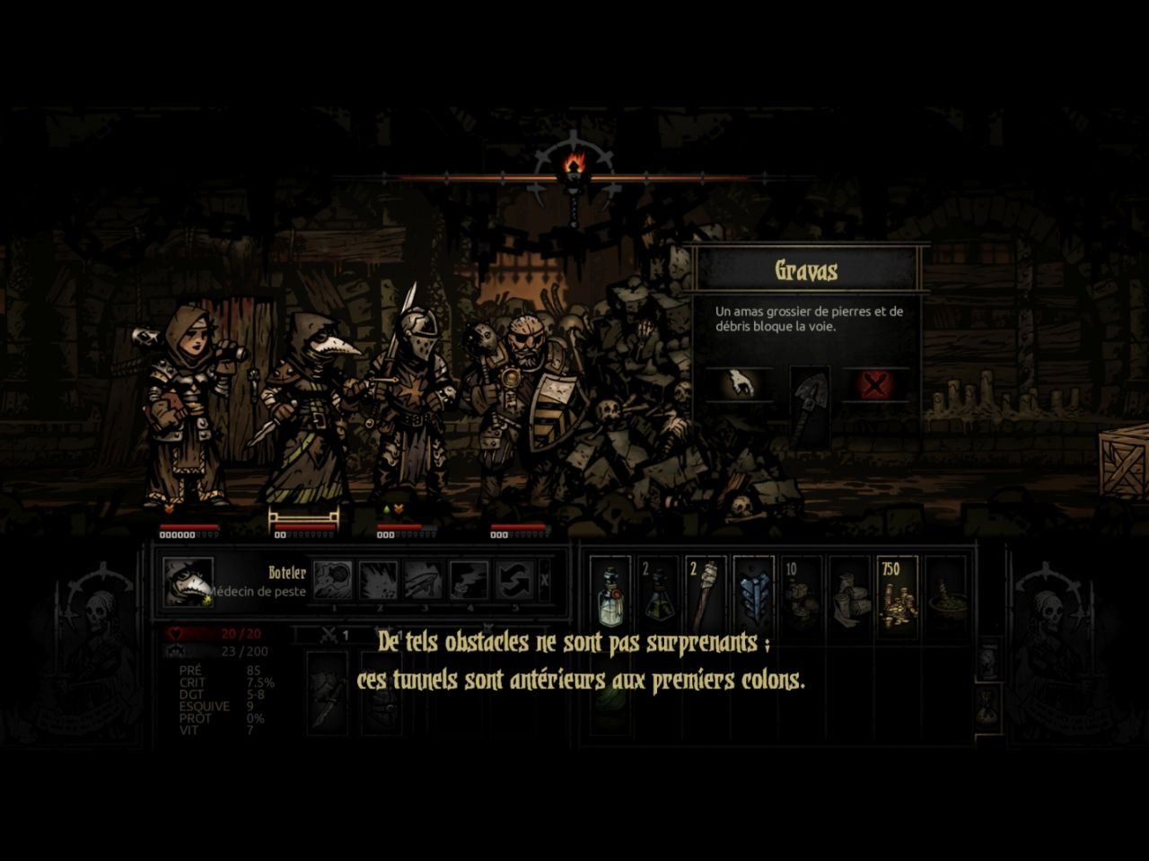 Darkest Dungeon: Tablet Edition (copie d'écran 4 sur iPad)