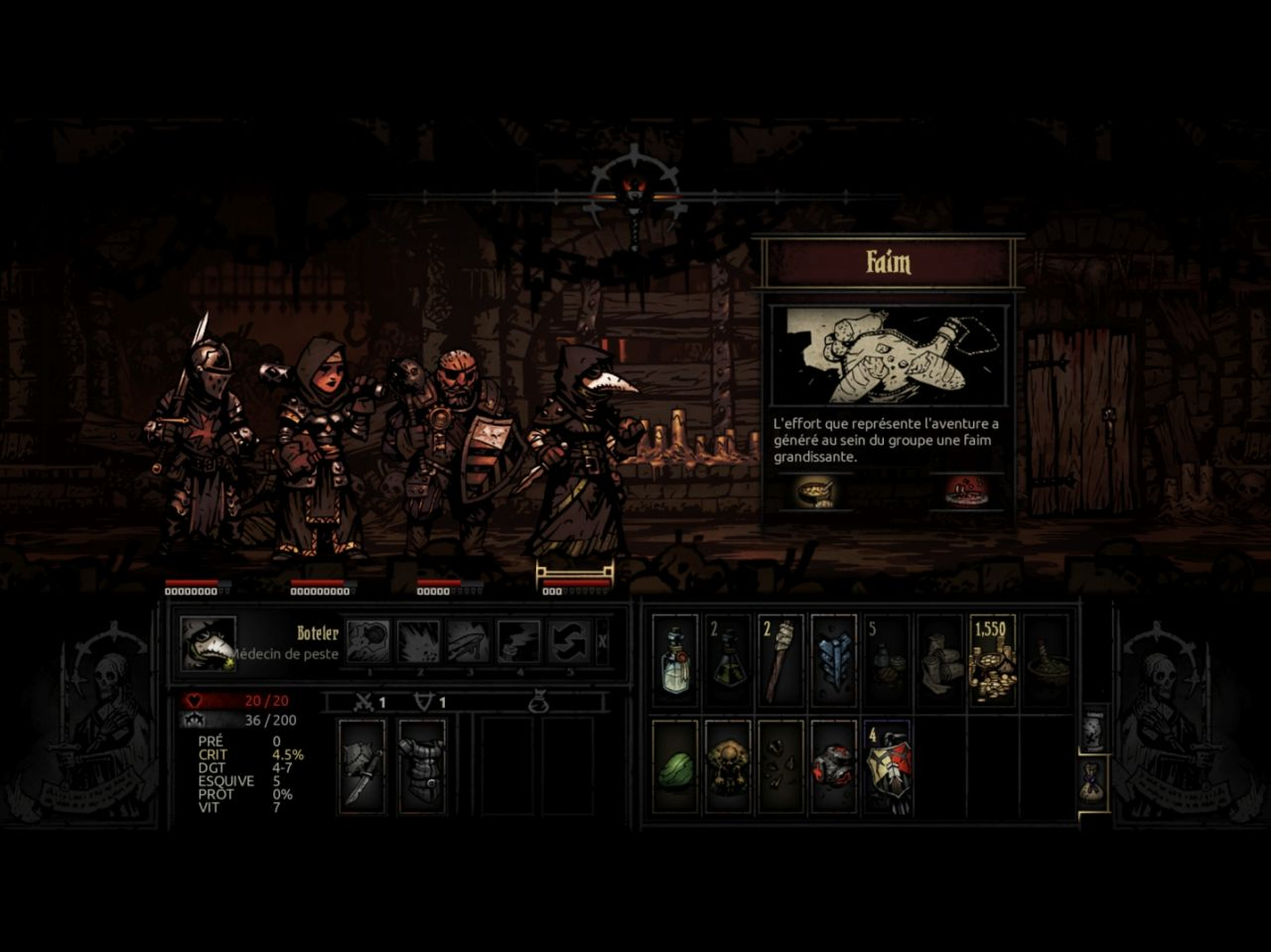 Darkest Dungeon: Tablet Edition (copie d'écran 8 sur iPad)