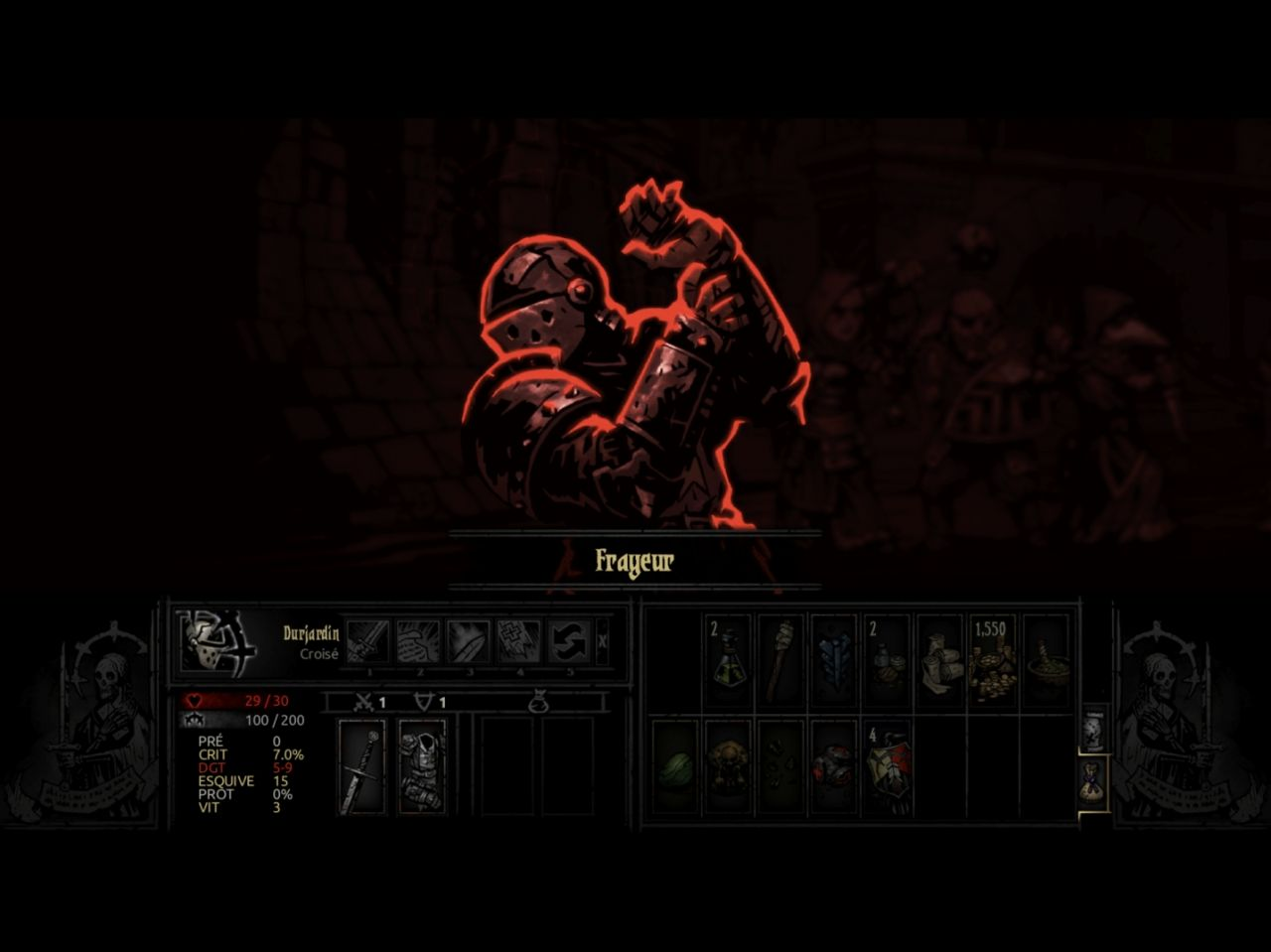 Darkest Dungeon: Tablet Edition (copie d'écran 12 sur iPad)