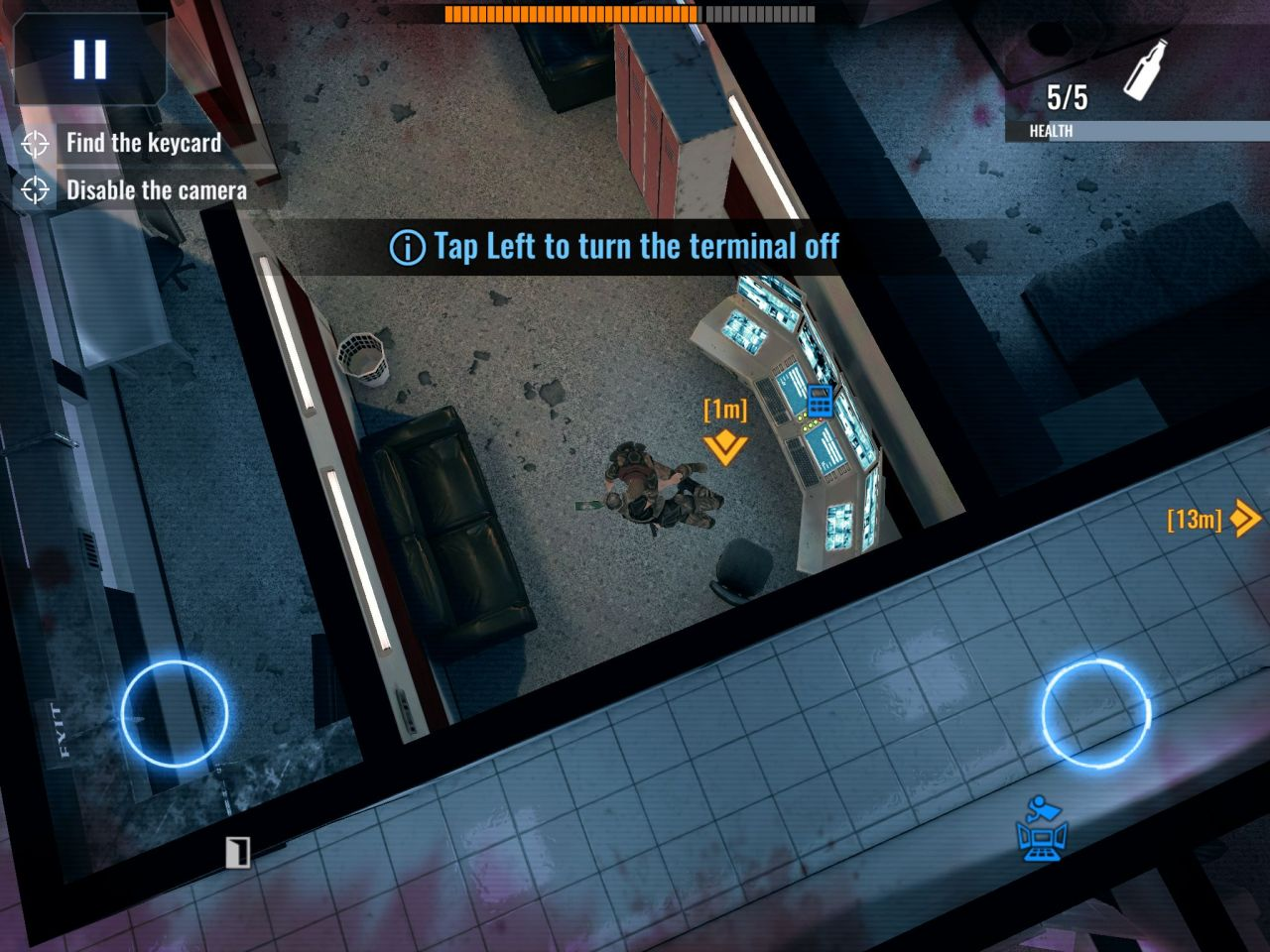 Death Point: 3D Spy Top-Down Shooter, Stealth Game (copie d'écran 4 sur Android)