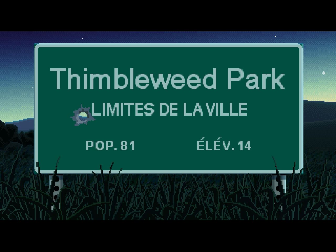 Thimbleweed Park (copie d'écran 1 sur iPhone / iPad)