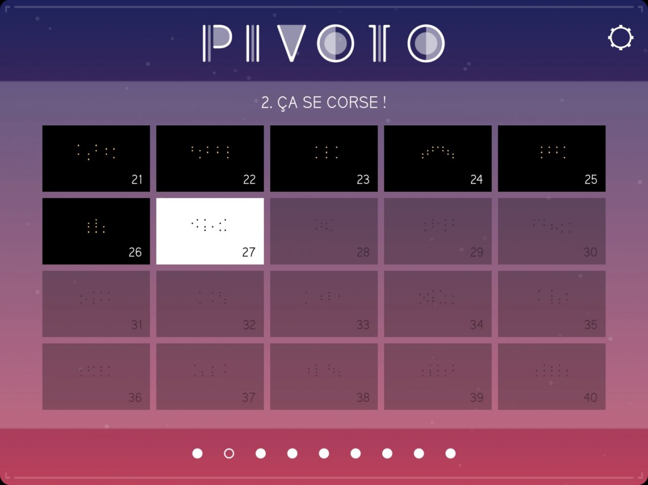PIVOTO (copie d'écran 2 sur iPhone / iPad)