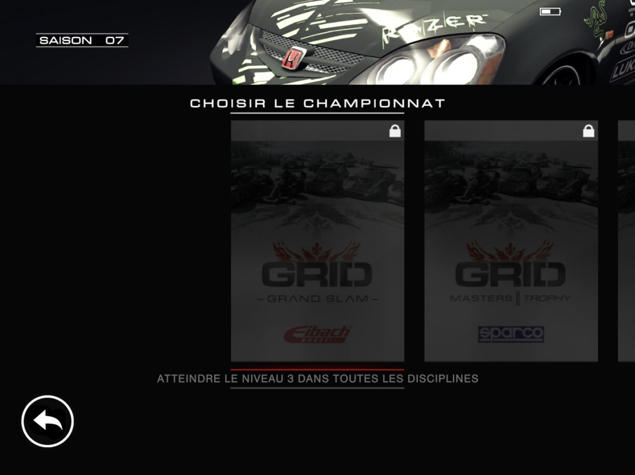 GRID Autosport (copie d'écran 36 sur iPhone / iPad)