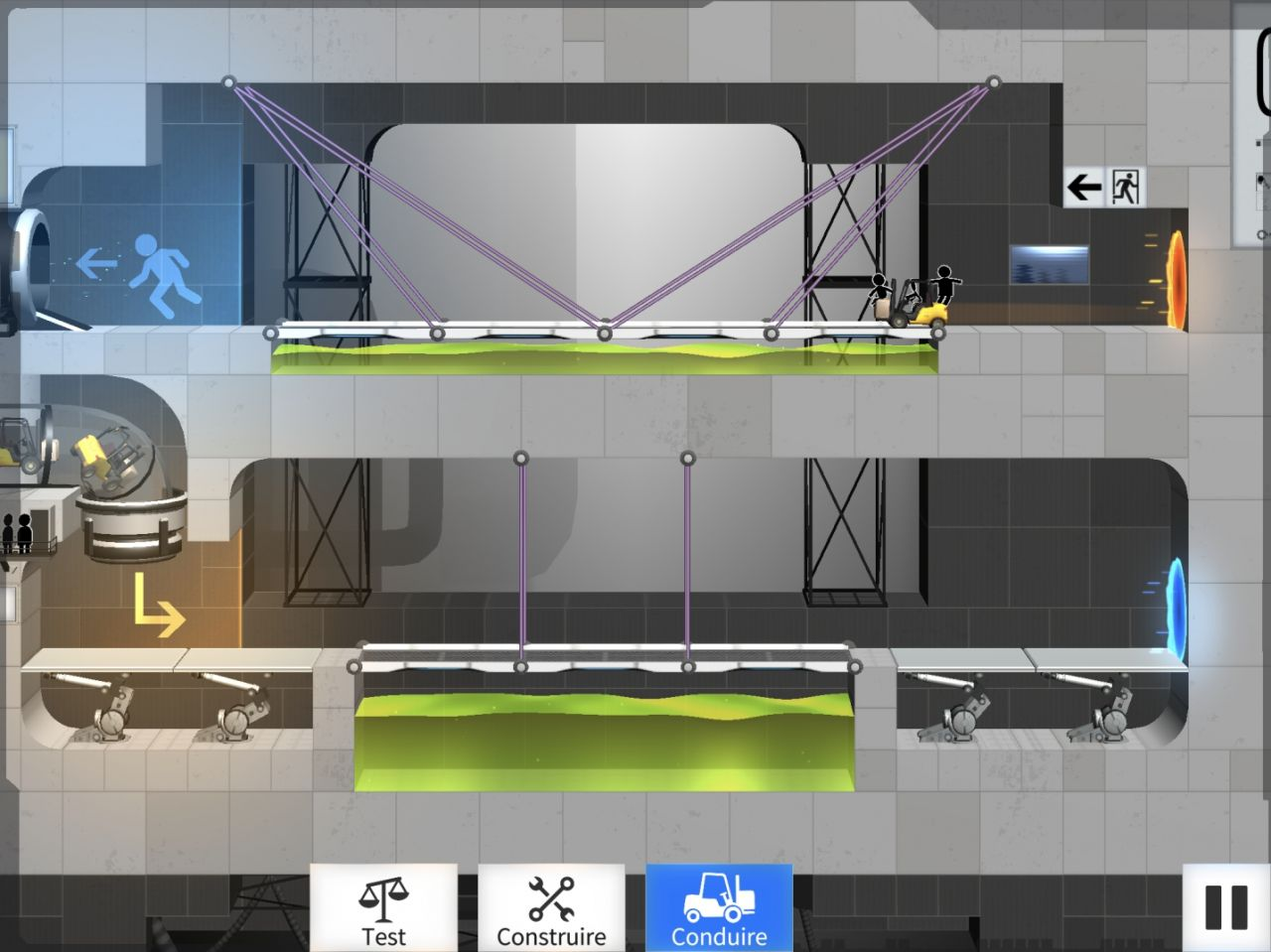 Bridge Constructor Portal (copie d'écran 8 sur iPhone / iPad)