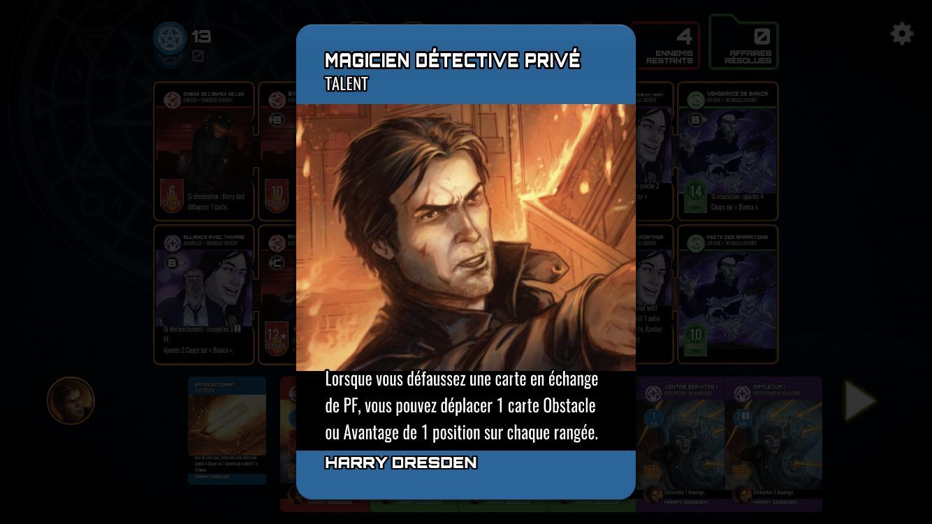 The Dresden Files Cooperative Card Game (copie d'écran 10 sur Android)