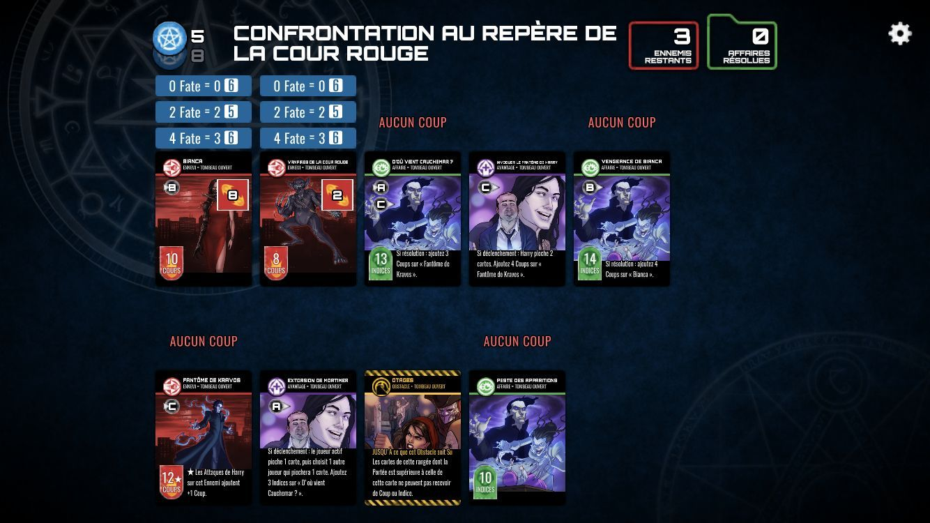 The Dresden Files Cooperative Card Game (copie d'écran 16 sur Android)