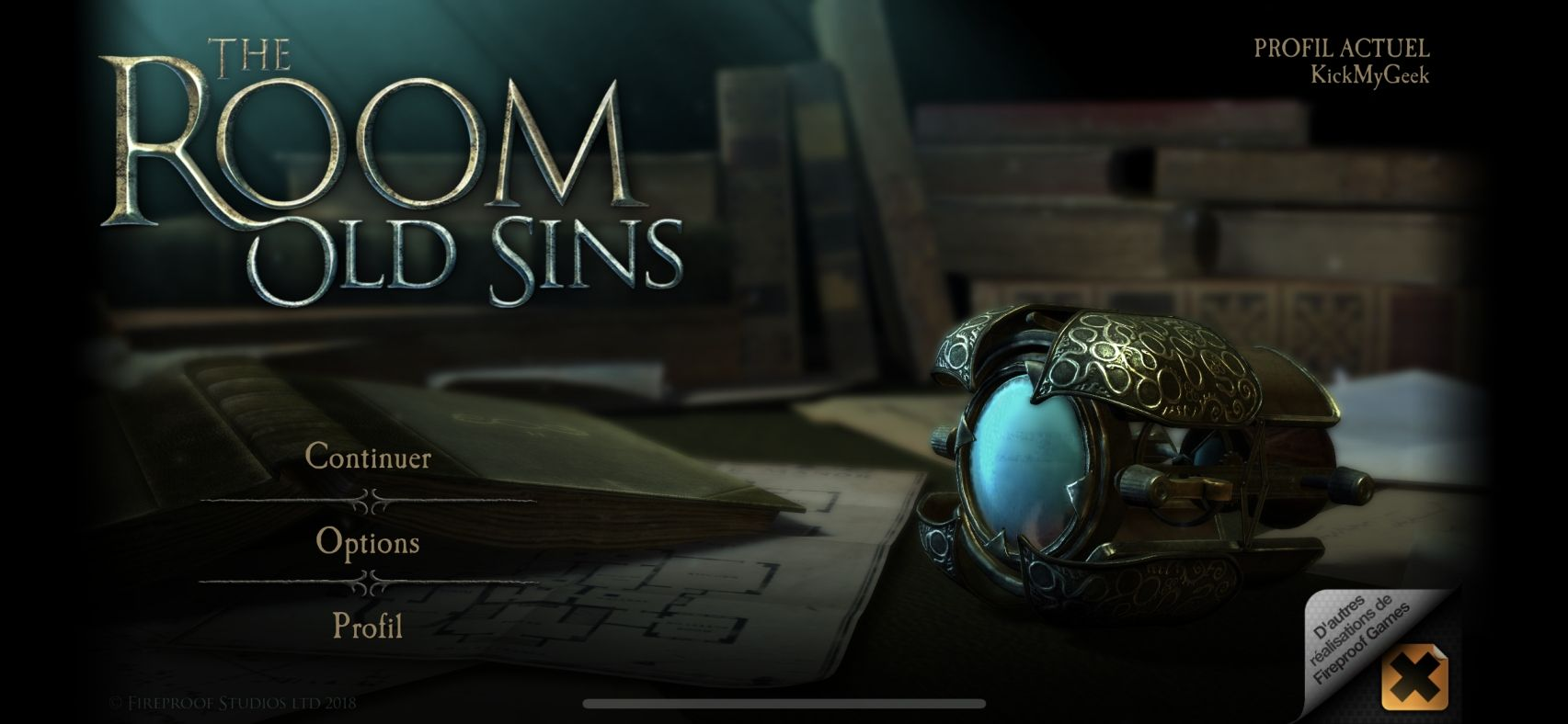 The Room: Old Sins (copie d'écran 1 sur iPhone / iPad)