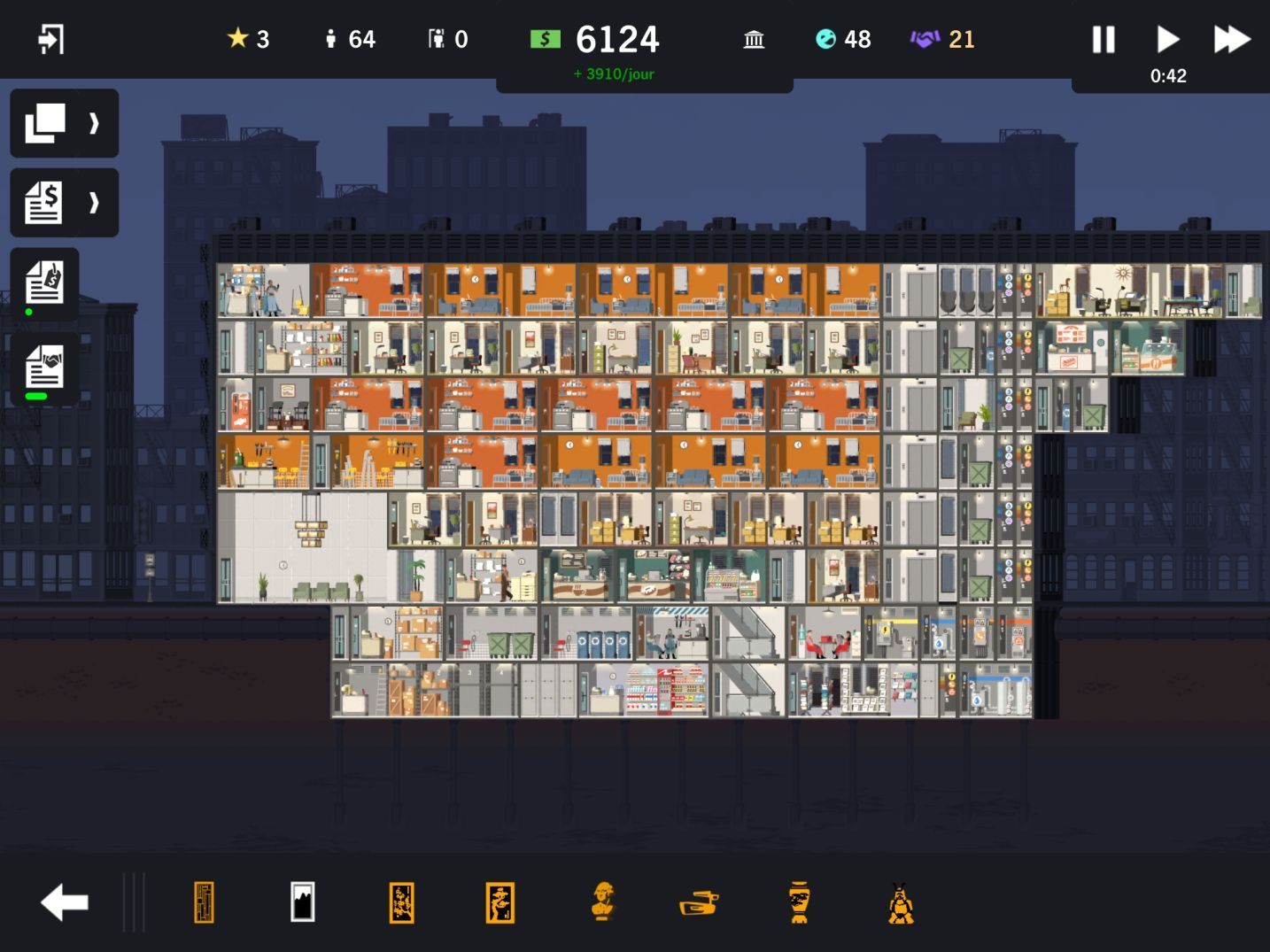 Project Highrise (copie d'écran 12 sur iPad)