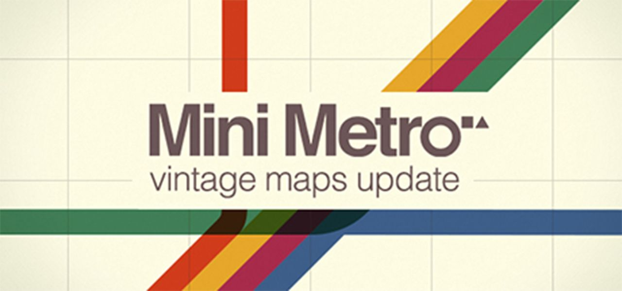 Mini Metro vintage maps update de Dinosaur Polo Club