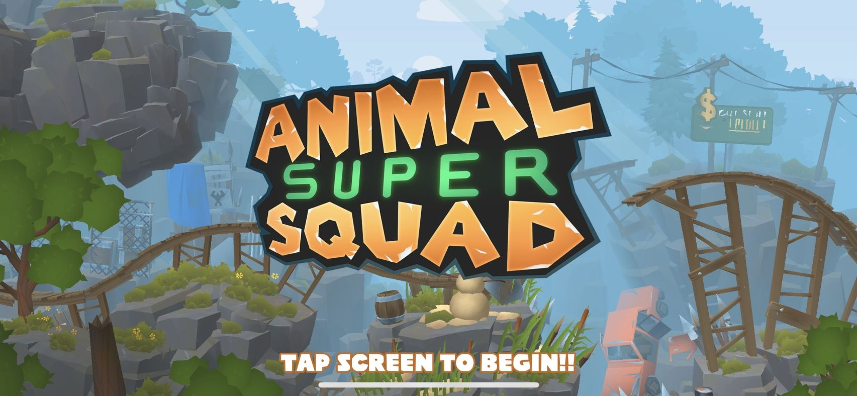 Animal Super Squad (copie d'écran 1 sur iPhone / iPad)