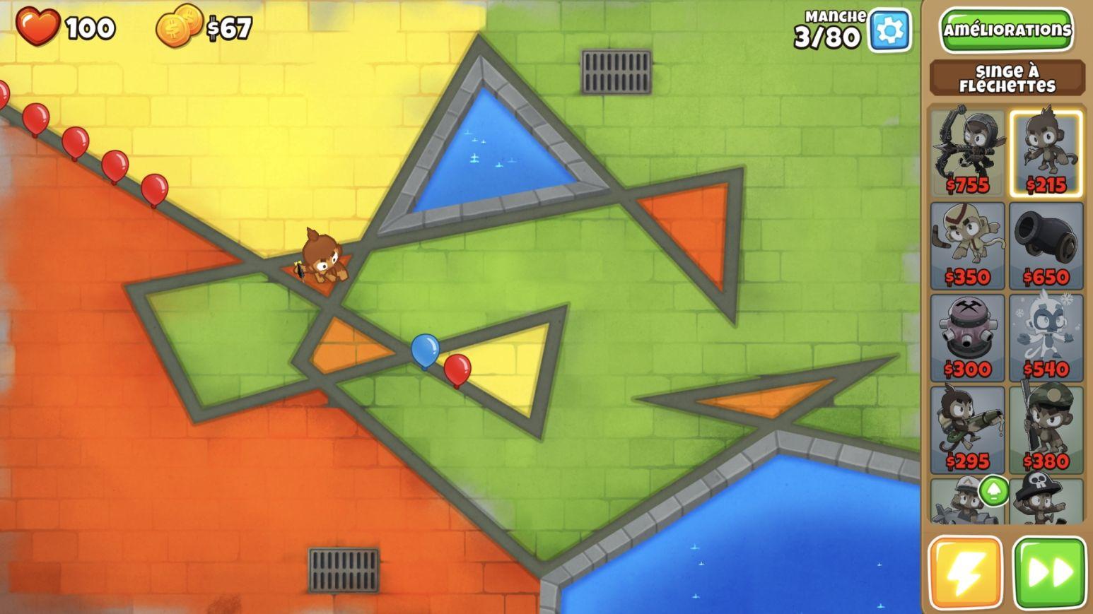 Bloons TD 6 - test jeu Android sur KickMyGeek com