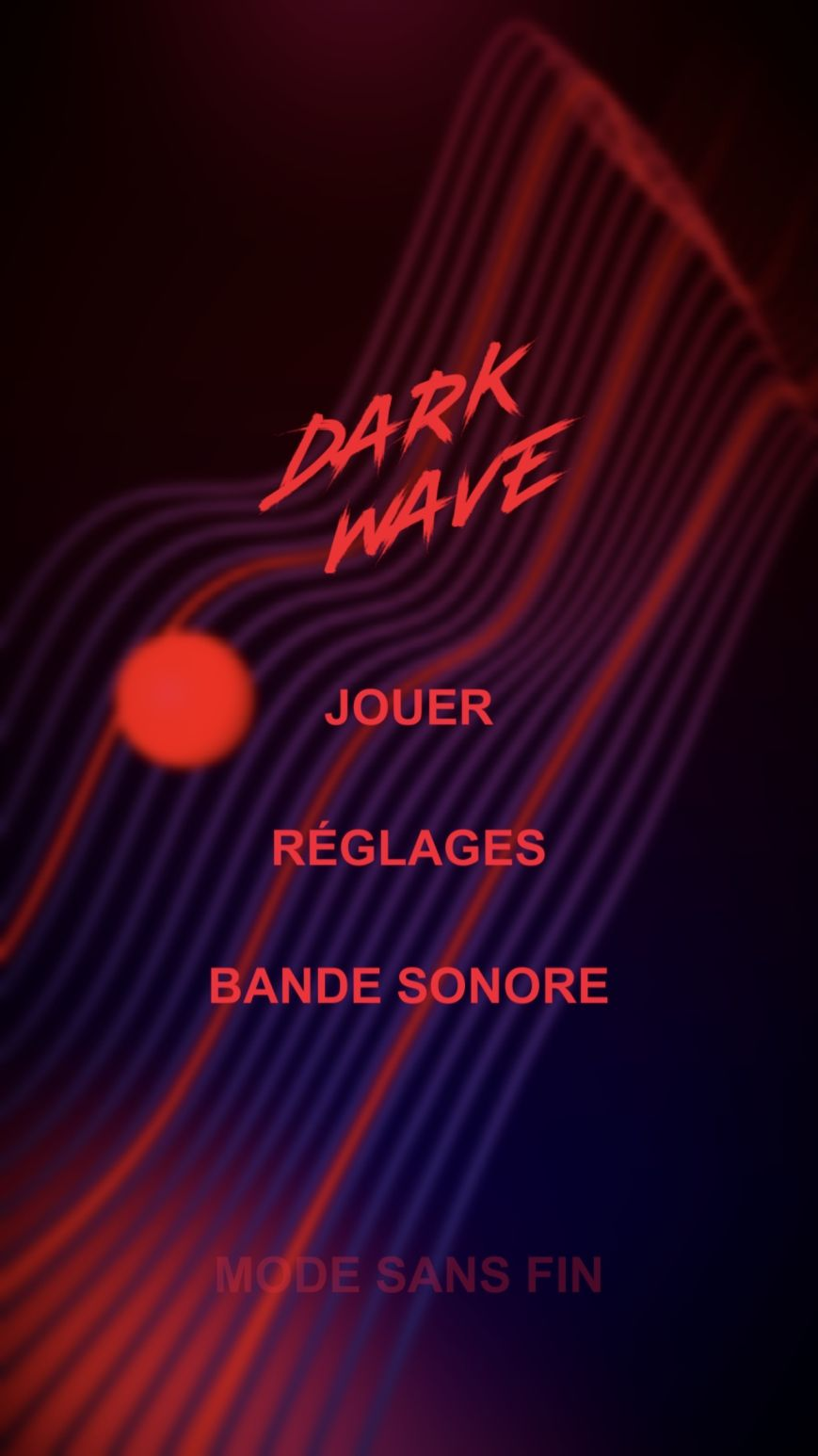 DARK WAVE (copie d'écran 1 sur iPhone / iPad / Apple TV)