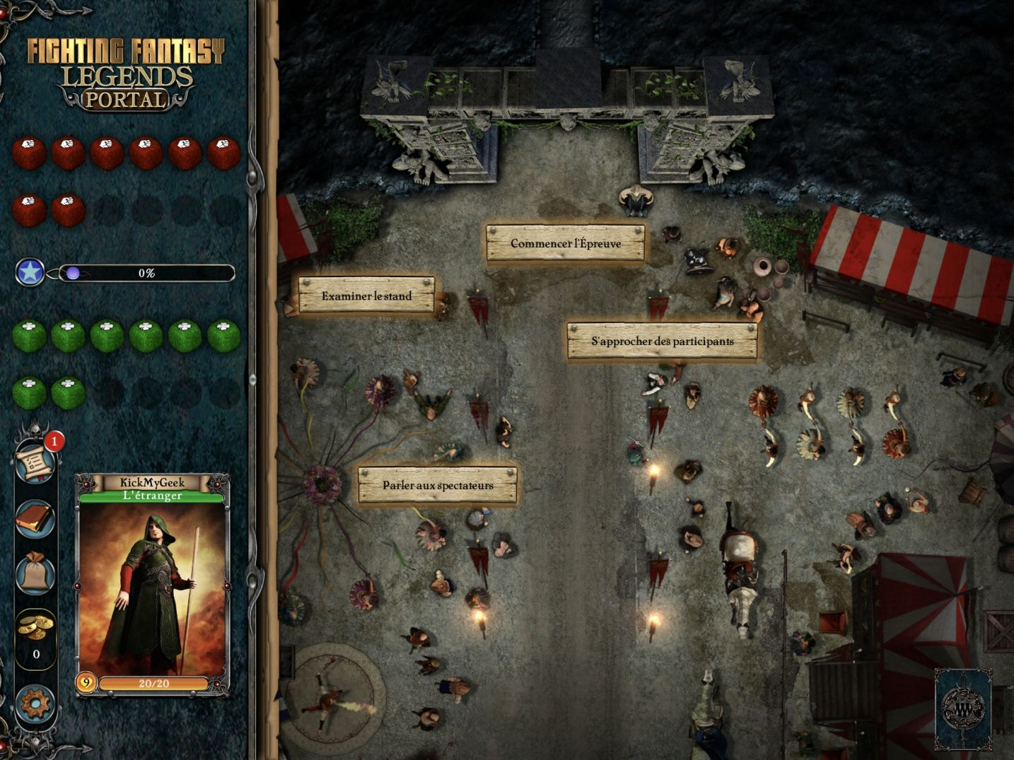 Fighting Fantasy Legends Portal (copie d'écran 4 sur iPhone / iPad)