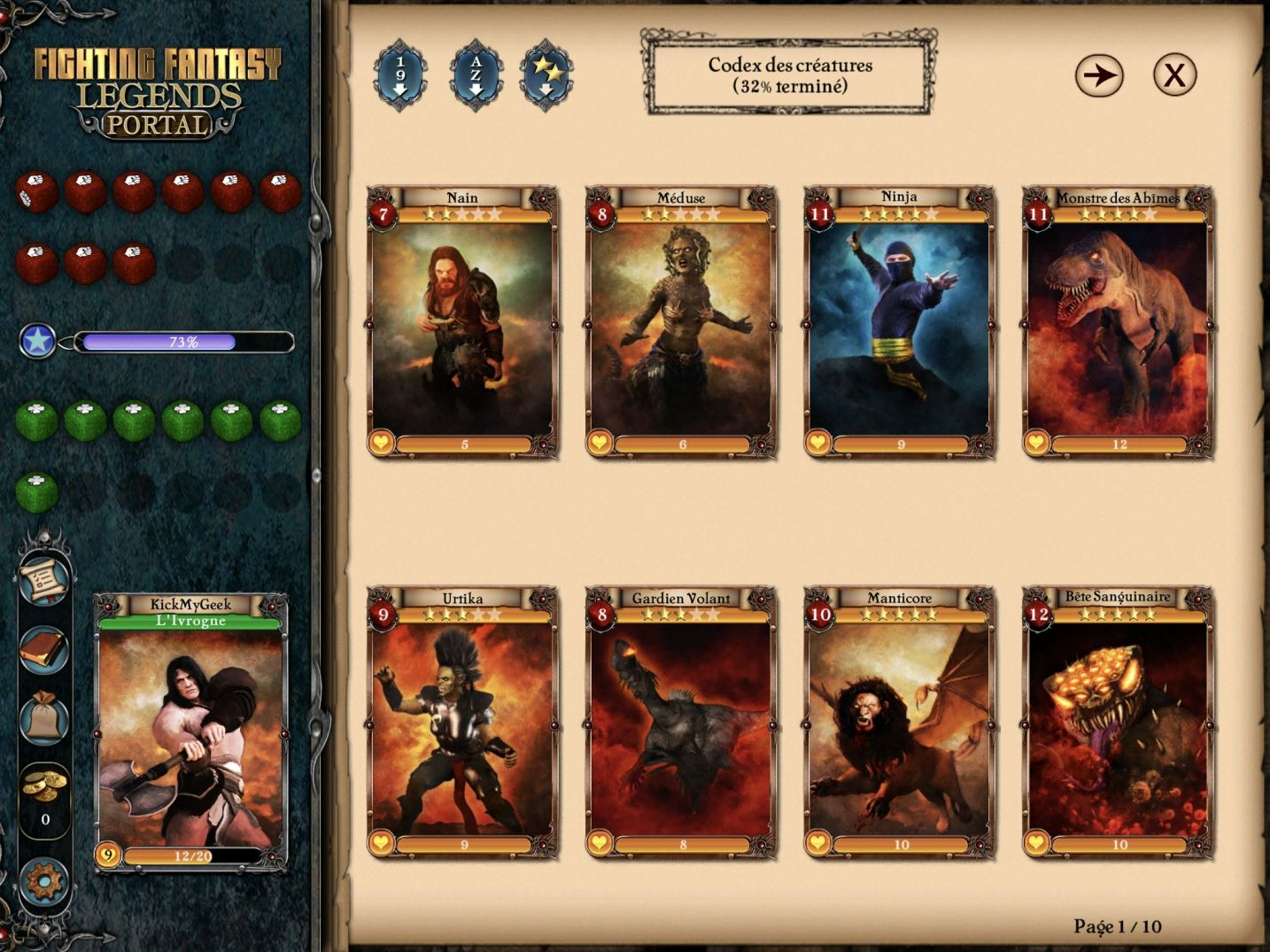 Fighting Fantasy Legends Portal (copie d'écran 16 sur iPhone / iPad)