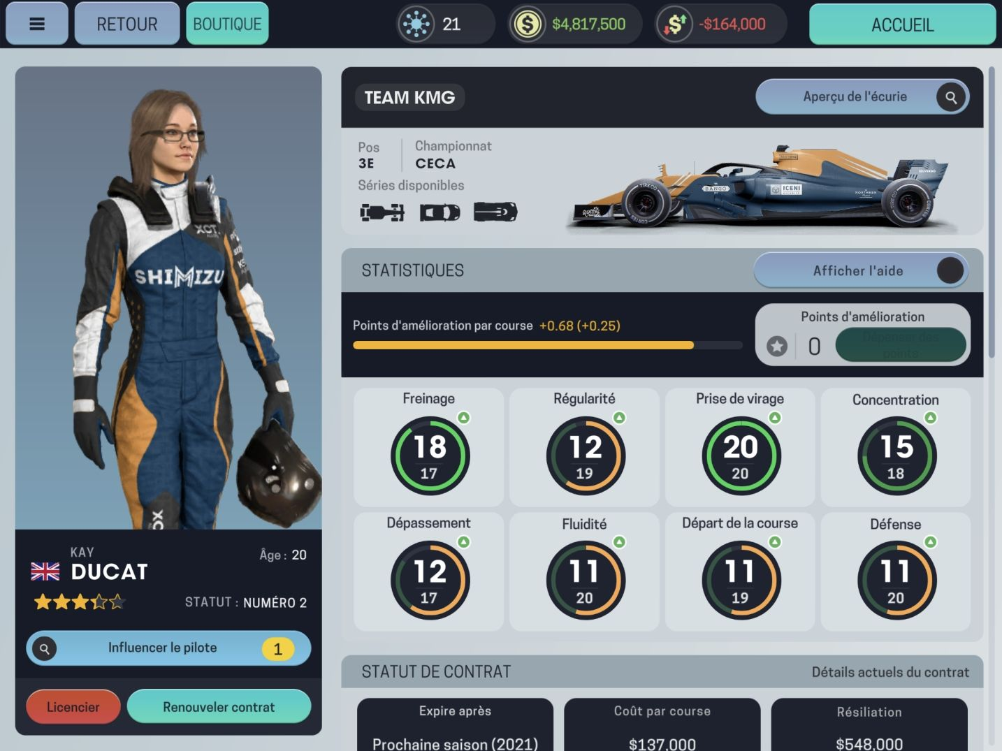 Motorsport Manager Mobile 3 (copie d'écran 3 sur Android)