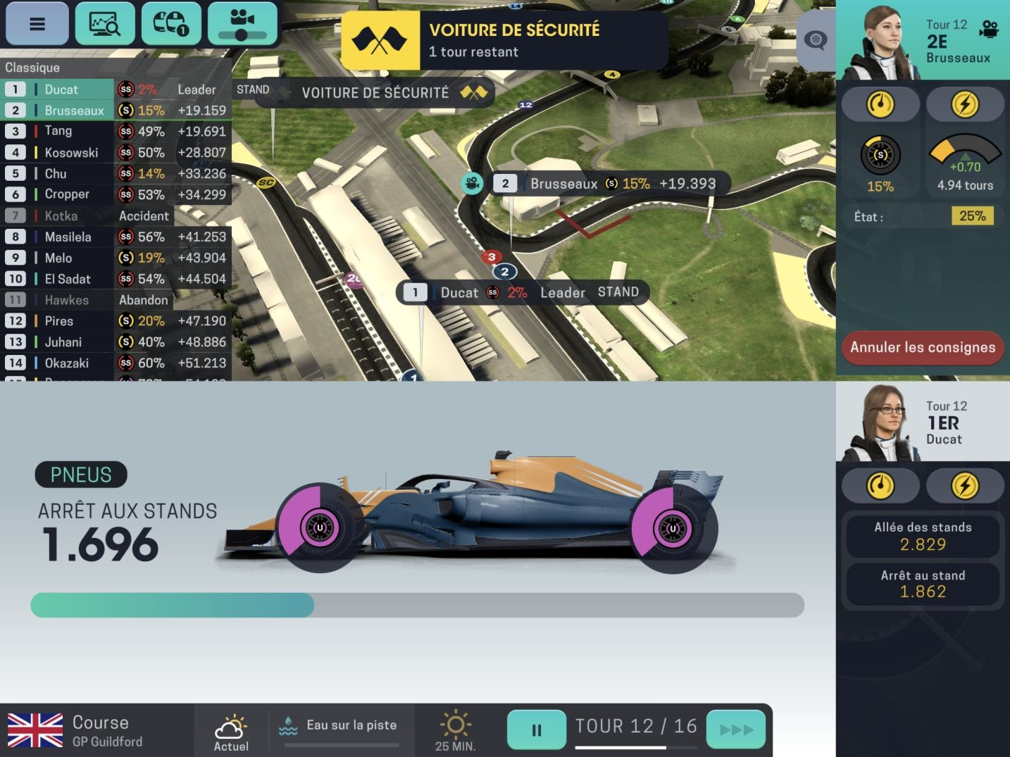 Motorsport Manager Mobile 3 (copie d'écran 15 sur Android)