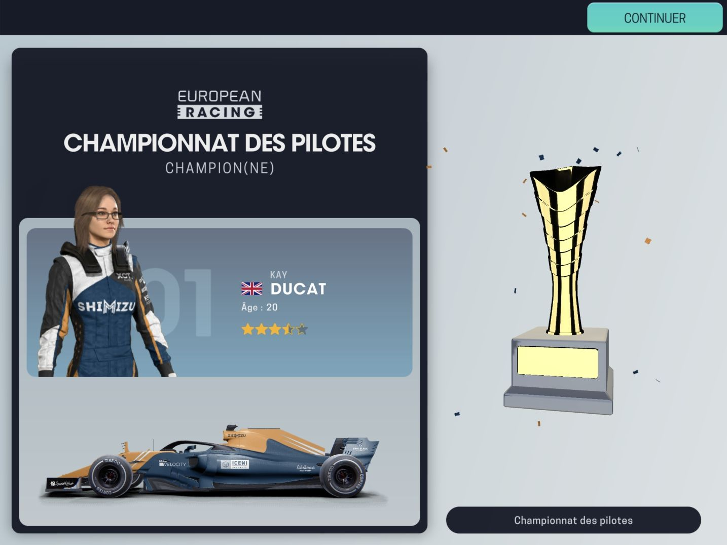 Motorsport Manager Mobile 3 (copie d'écran 44 sur Android)