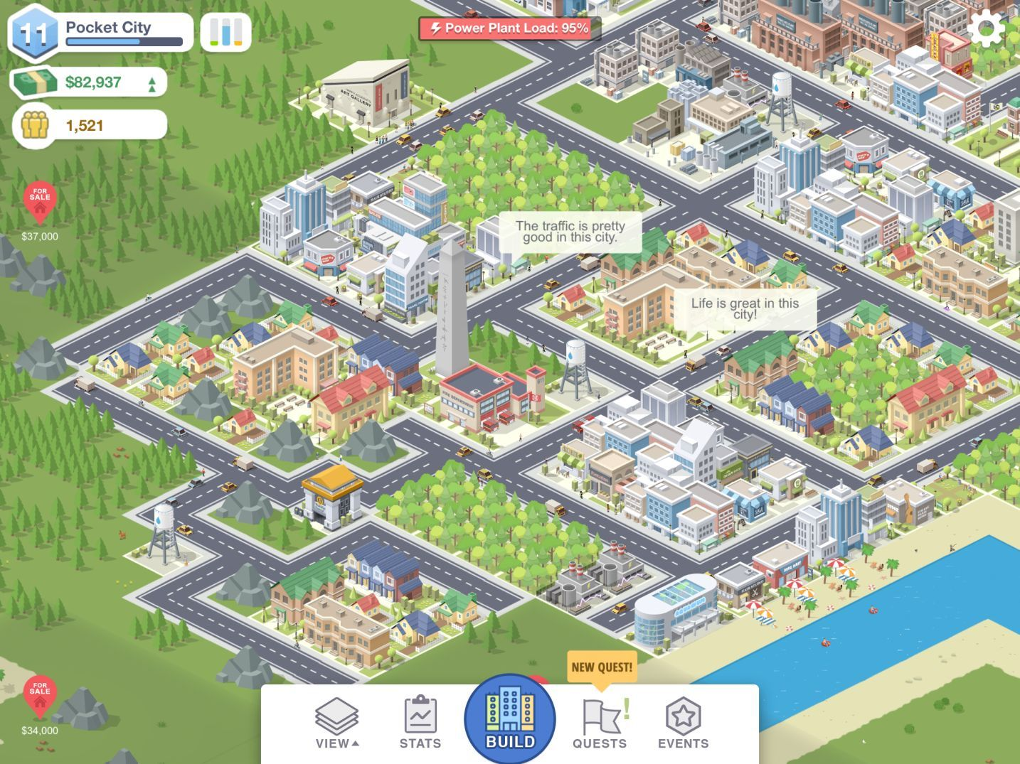 Pocket City (copie d'écran 4 sur Android)