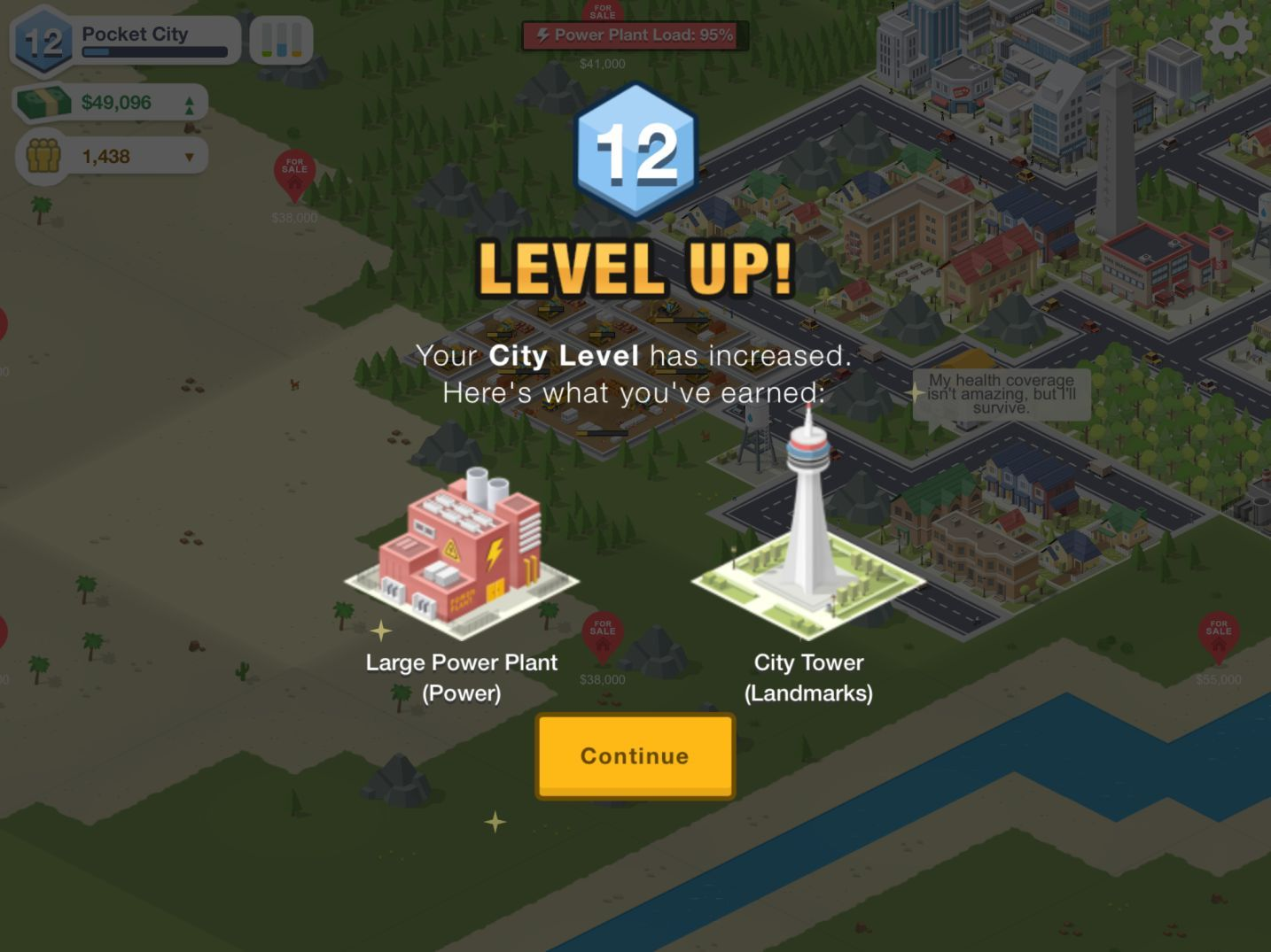 Pocket City (copie d'écran 8 sur Android)