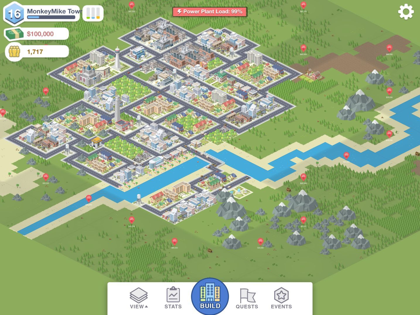 Pocket City (copie d'écran 12 sur Android)