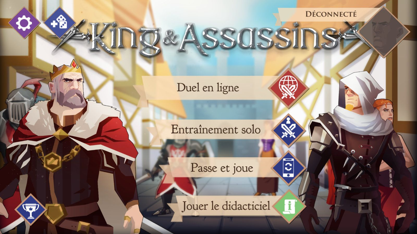 King and Assassins (copie d'écran 1 sur iPhone / iPad)