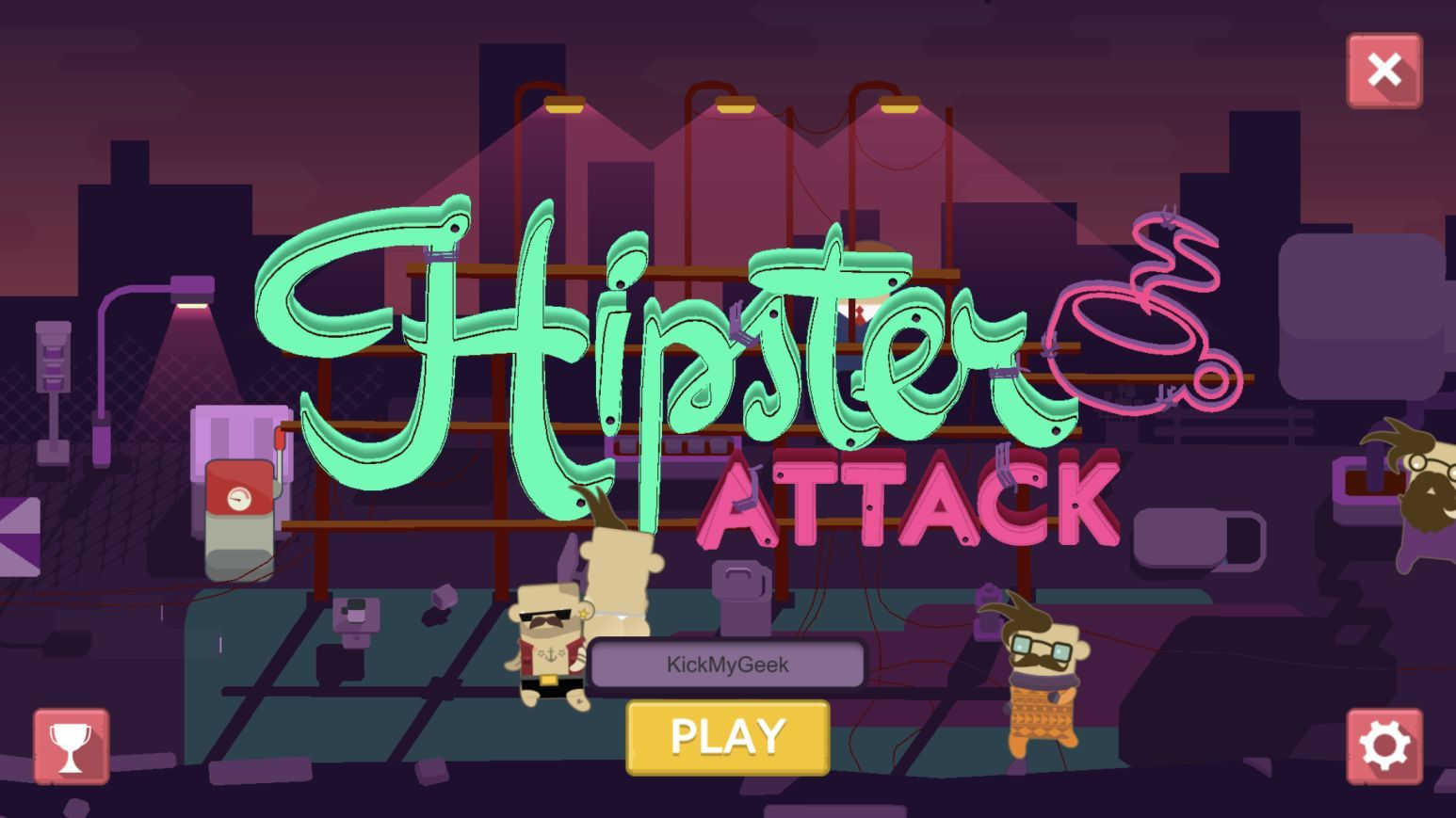 Hipster Attack (copie d'écran 1 sur iPhone / iPad)