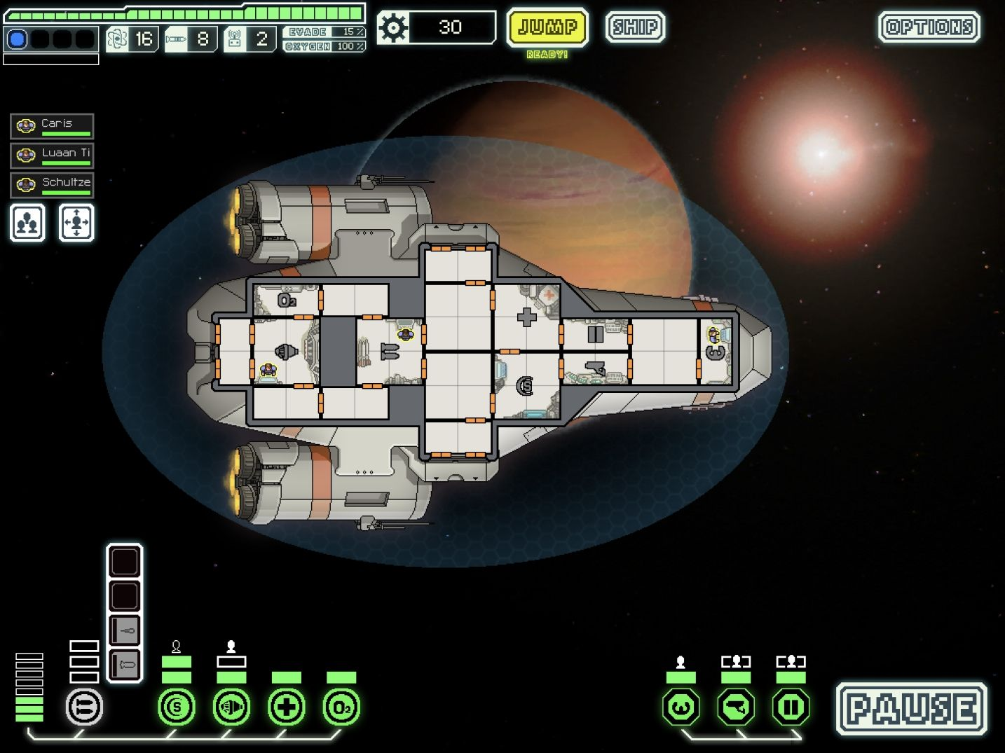 FTL: Faster Than Light (copie d'écran 3 sur iPad)