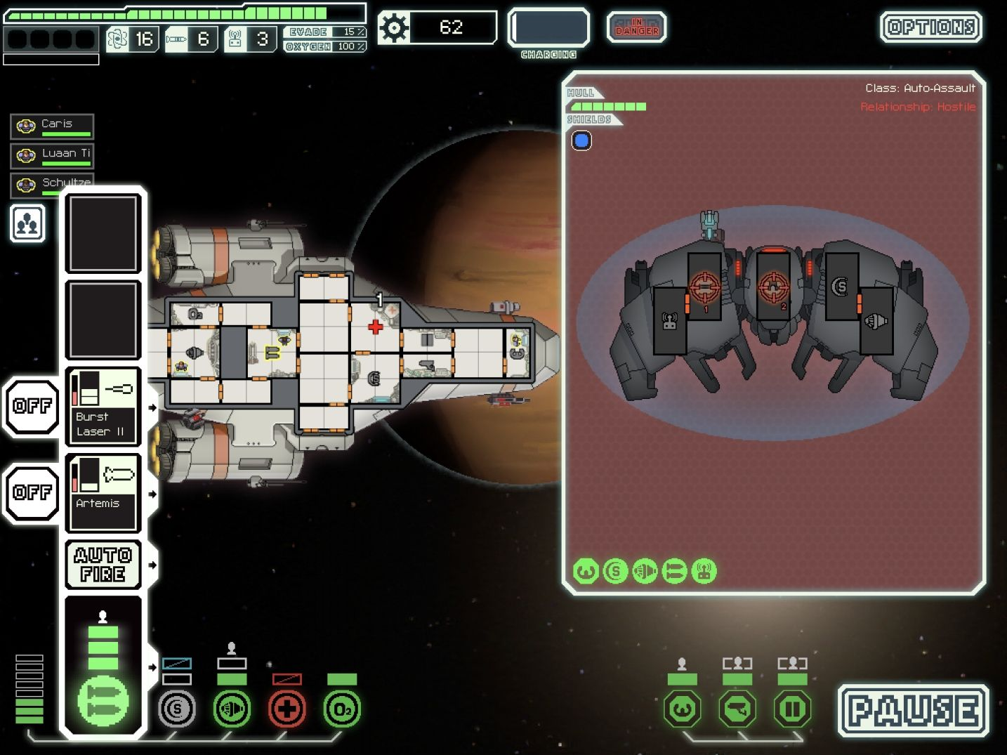FTL: Faster Than Light (copie d'écran 5 sur iPad)