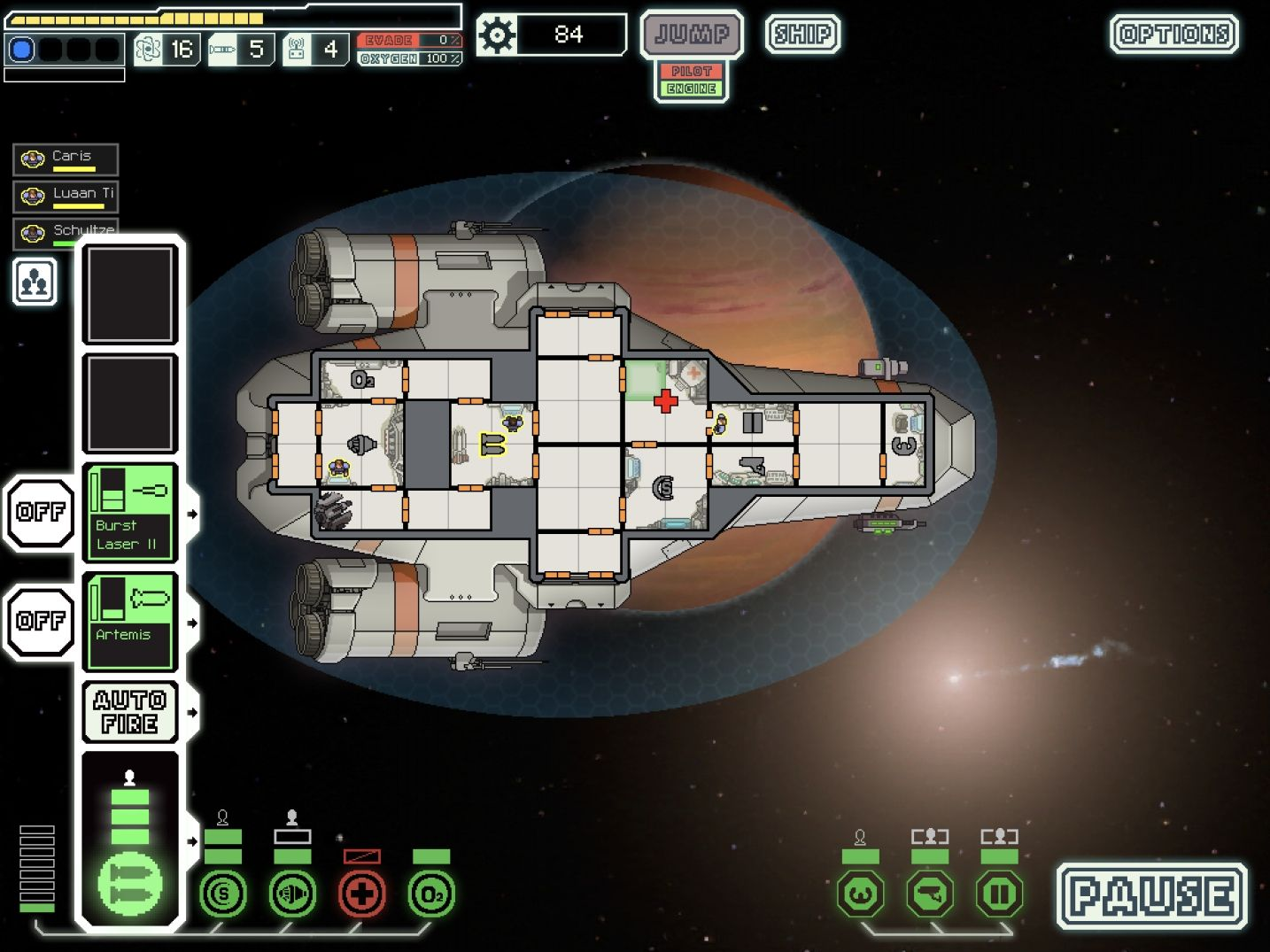 FTL: Faster Than Light (copie d'écran 6 sur iPad)