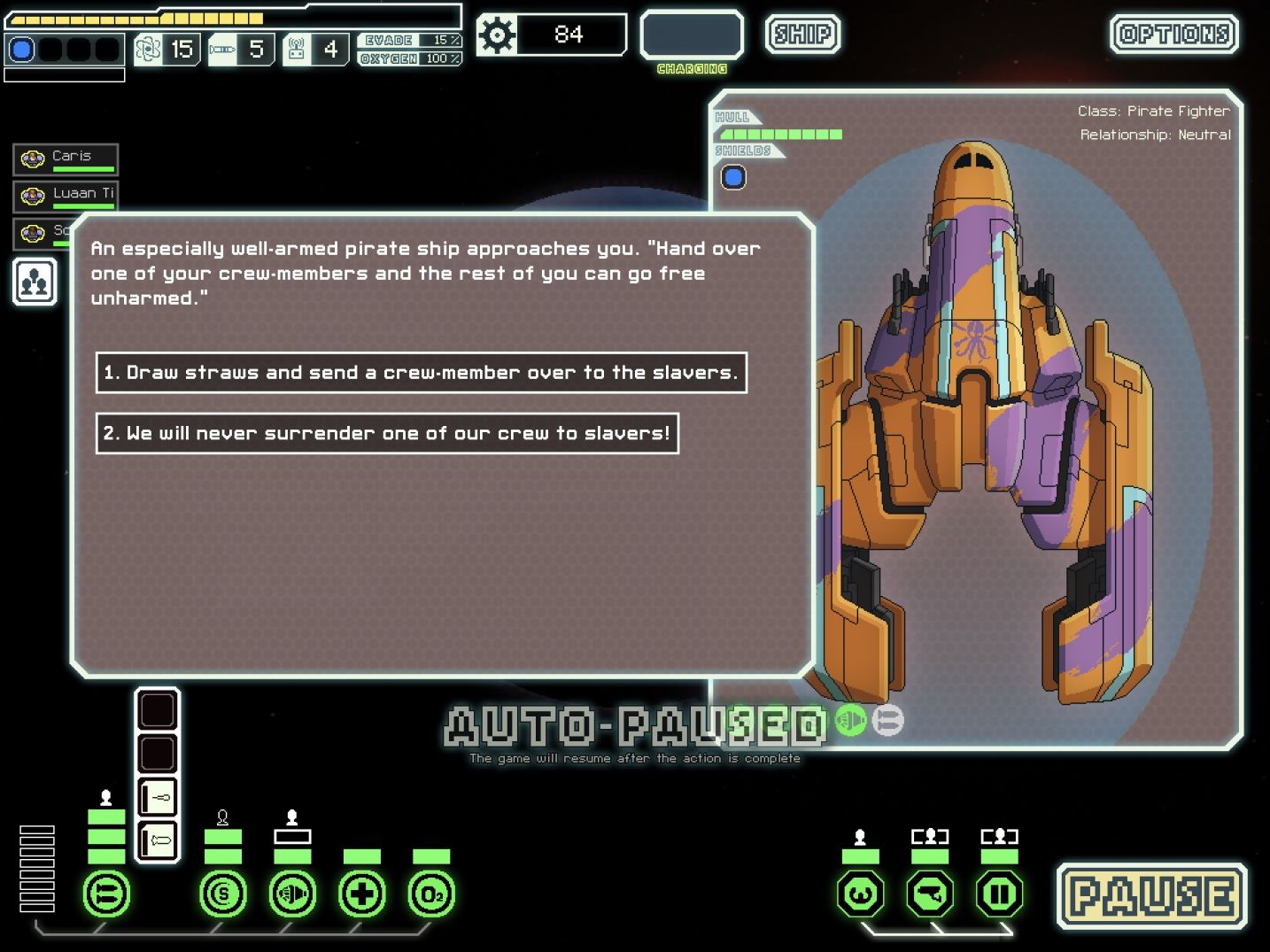 FTL: Faster Than Light (copie d'écran 8 sur iPad)