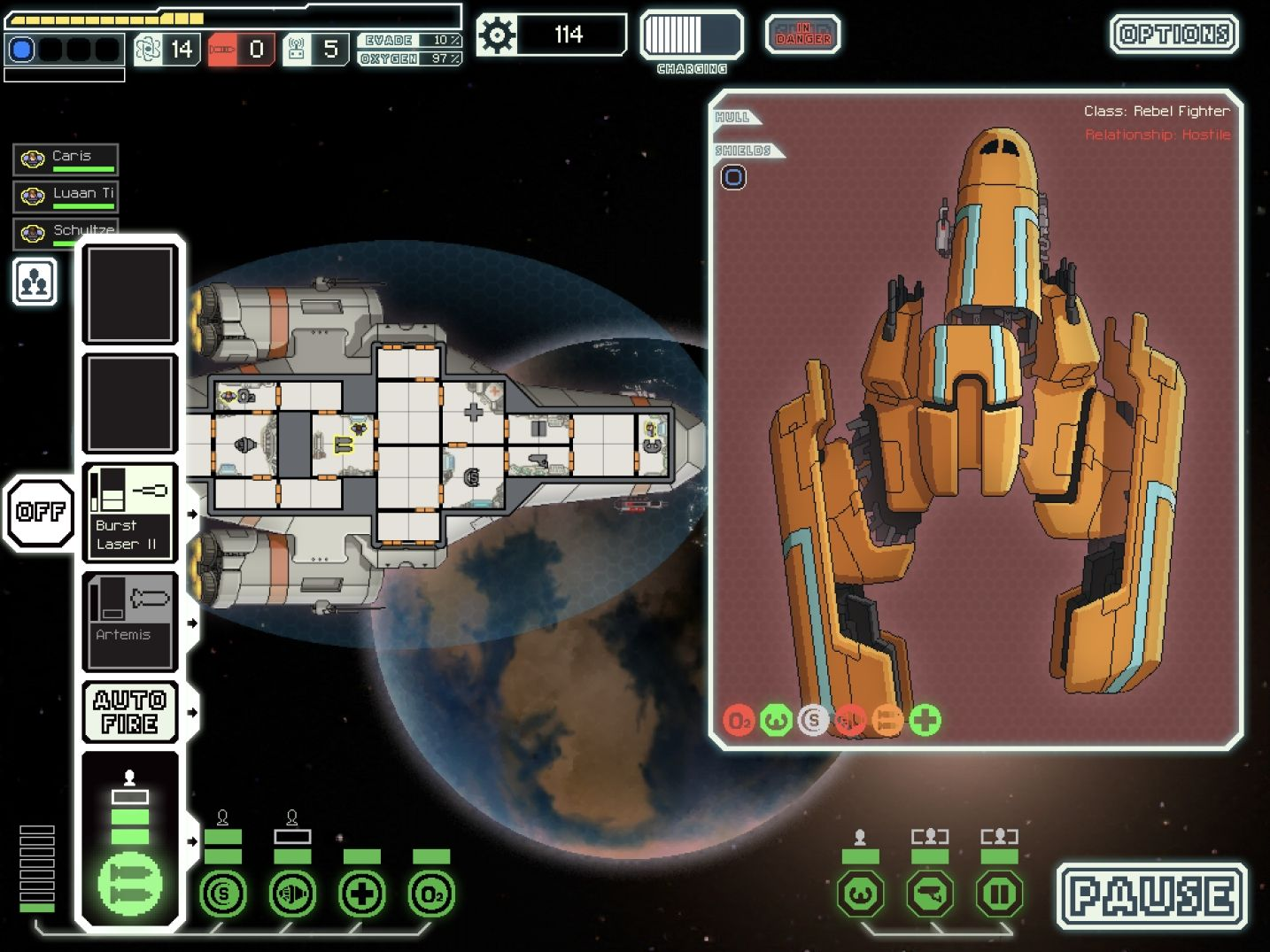 FTL: Faster Than Light (copie d'écran 10 sur iPad)