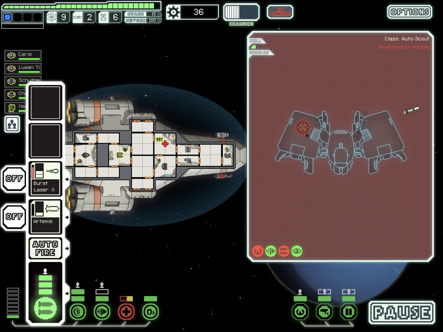 FTL: Faster Than Light (copie d'écran 13 sur iPad)