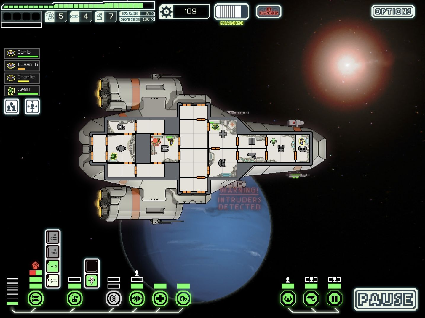 FTL: Faster Than Light (copie d'écran 15 sur iPad)