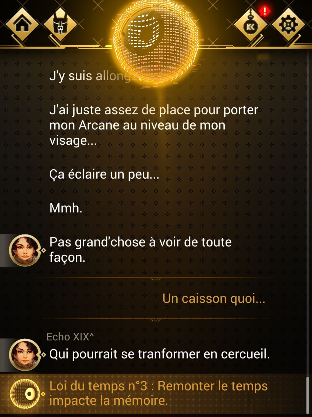 Chroniric XIX (copie d'écran 2 sur Android)