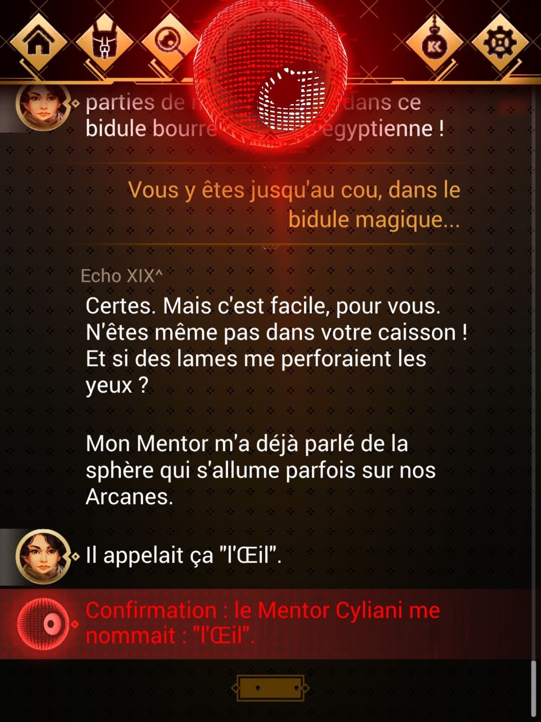 Chroniric XIX (copie d'écran 7 sur Android)