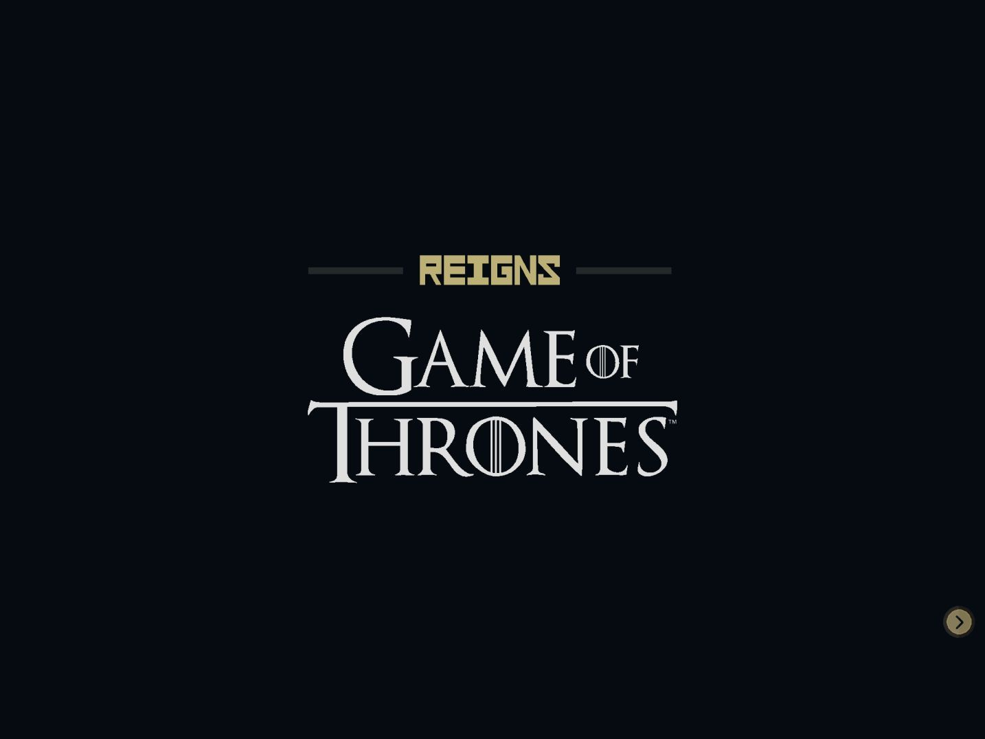 Reigns: Game of Thrones (copie d'écran 1 sur iPhone / iPad)