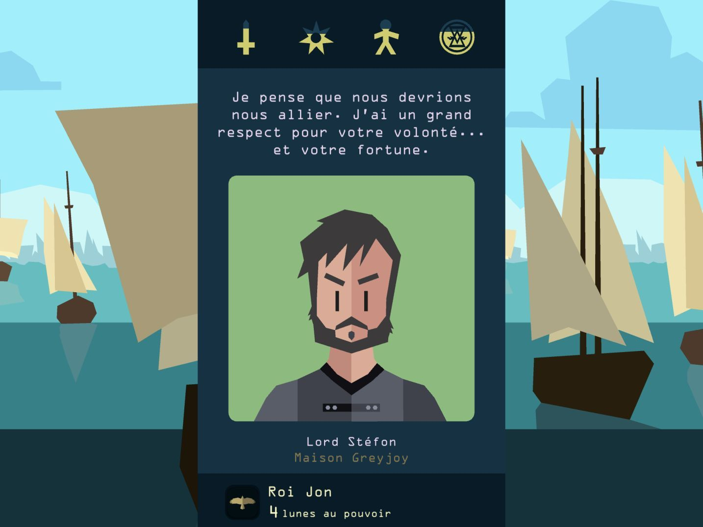 Reigns: Game of Thrones (copie d'écran 4 sur iPhone / iPad)