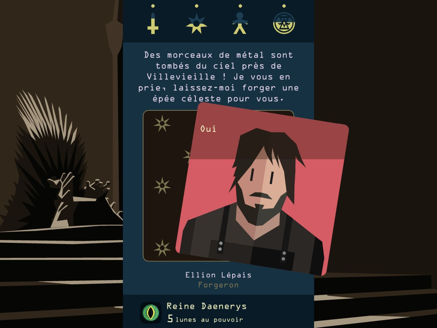 Reigns: Game of Thrones (copie d'écran 8 sur iPhone / iPad)