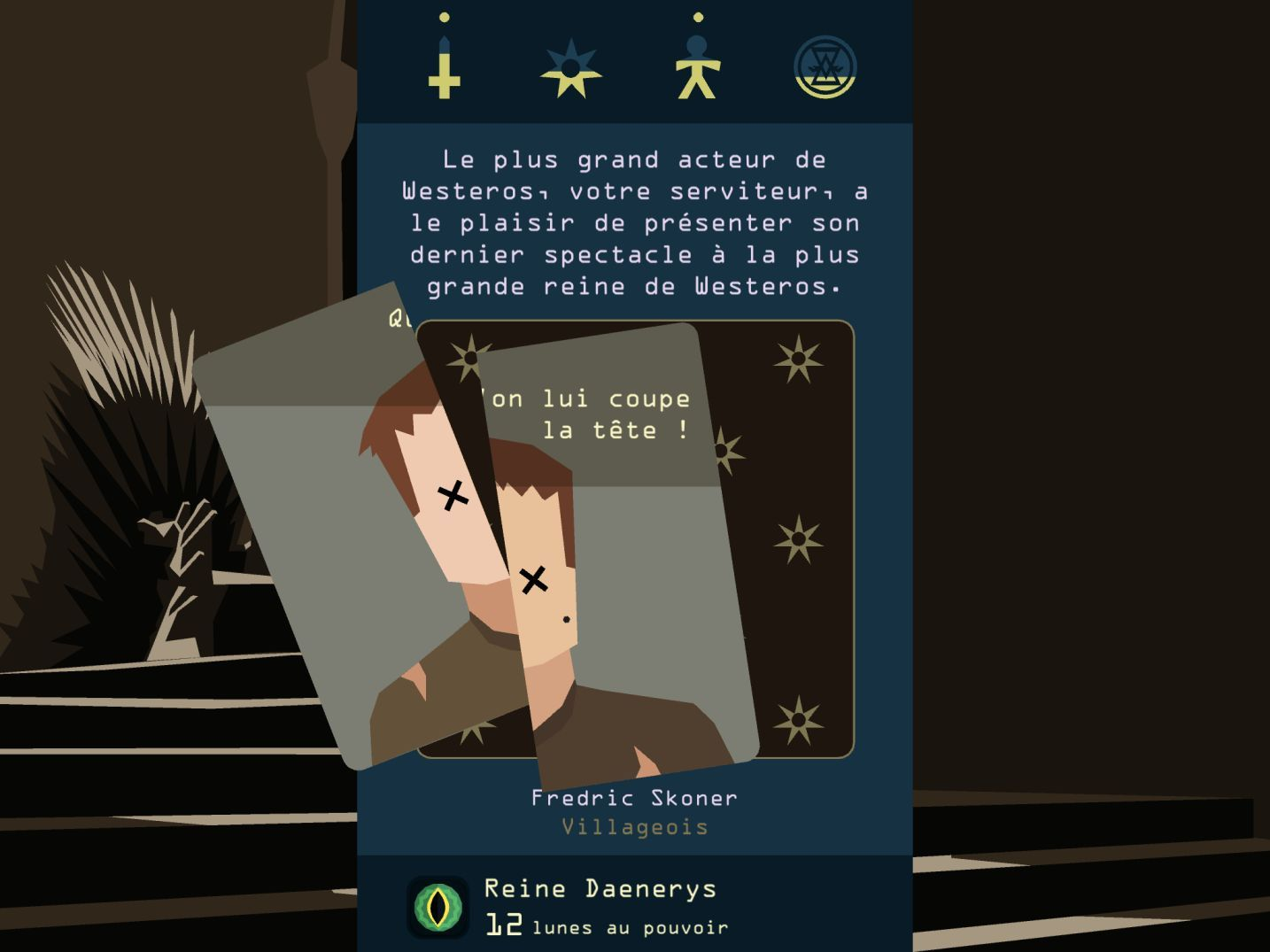 Reigns: Game of Thrones (copie d'écran 9 sur iPhone / iPad)
